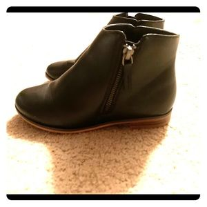 Youth size black booties